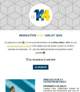 newsletter 144 coworking JUILLET-19