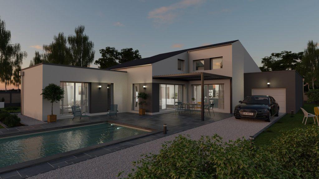 Conception de maison en 3D - Vue Extérieure