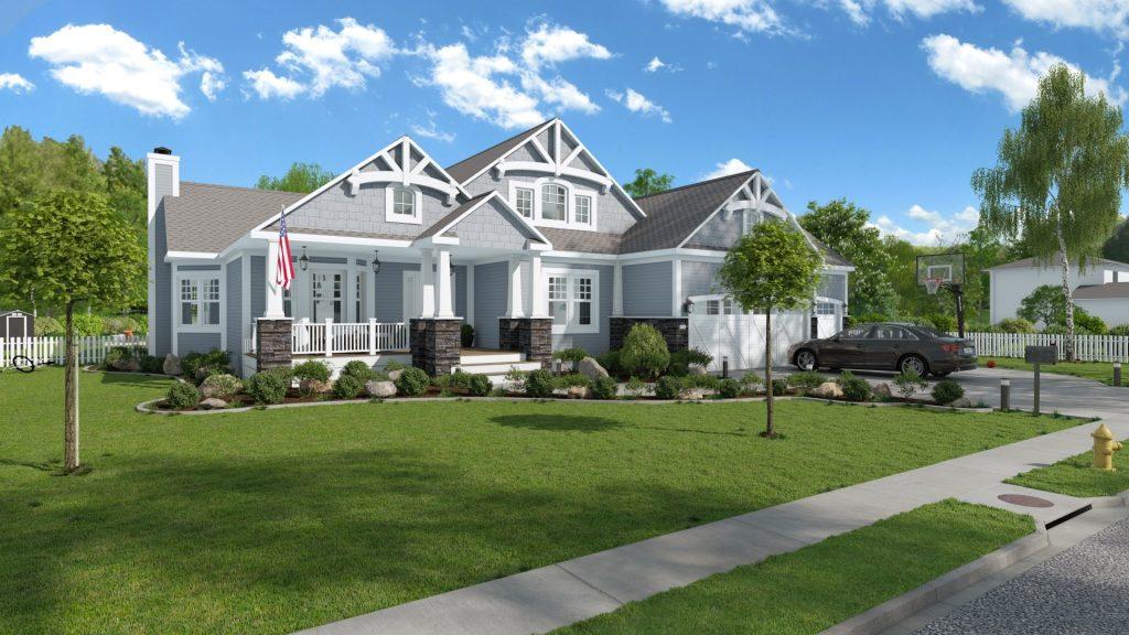 Maison américaine en 3D